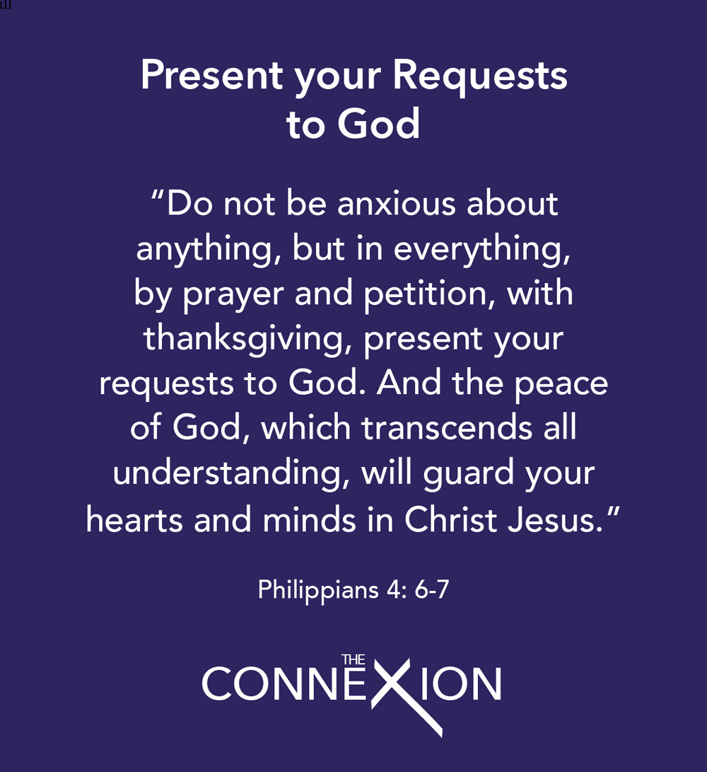 Present your requests to God