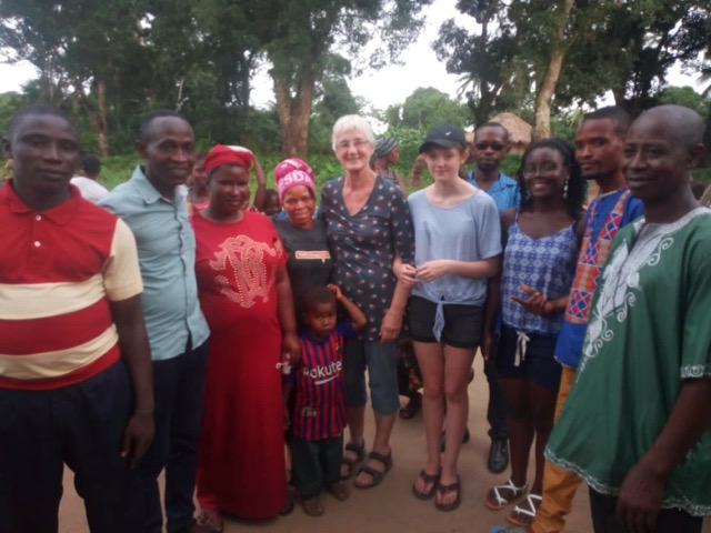 Janet with community at Fogbo