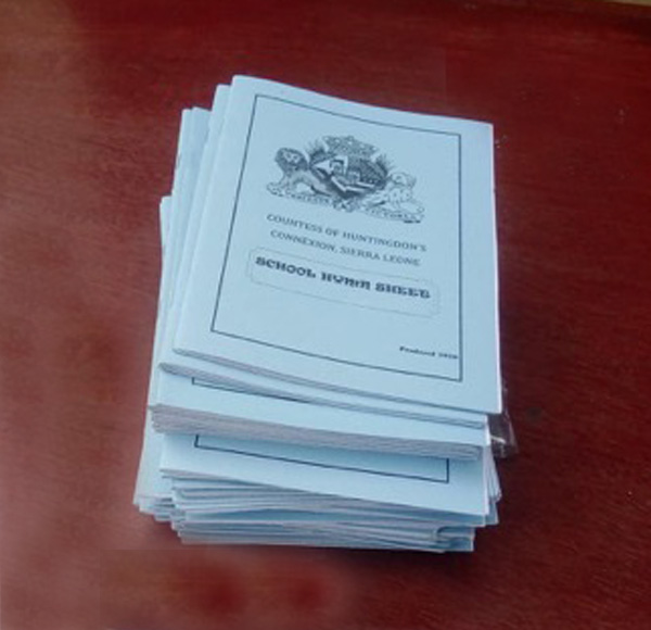 hymn booklets